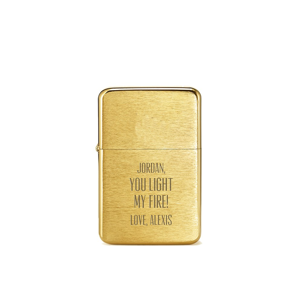 Classic Lighter - You Light My Fire Etching
