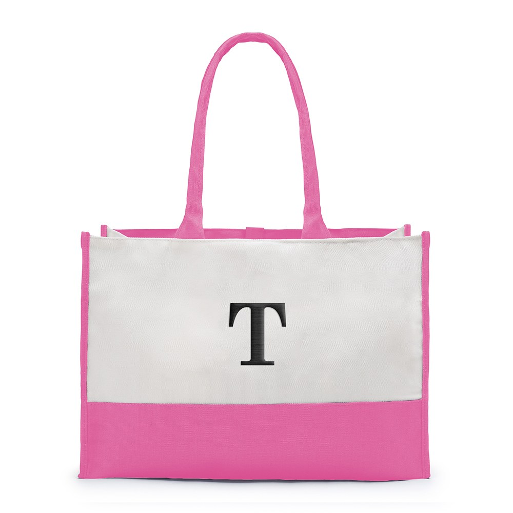 Colorblock Tote Hot Pink