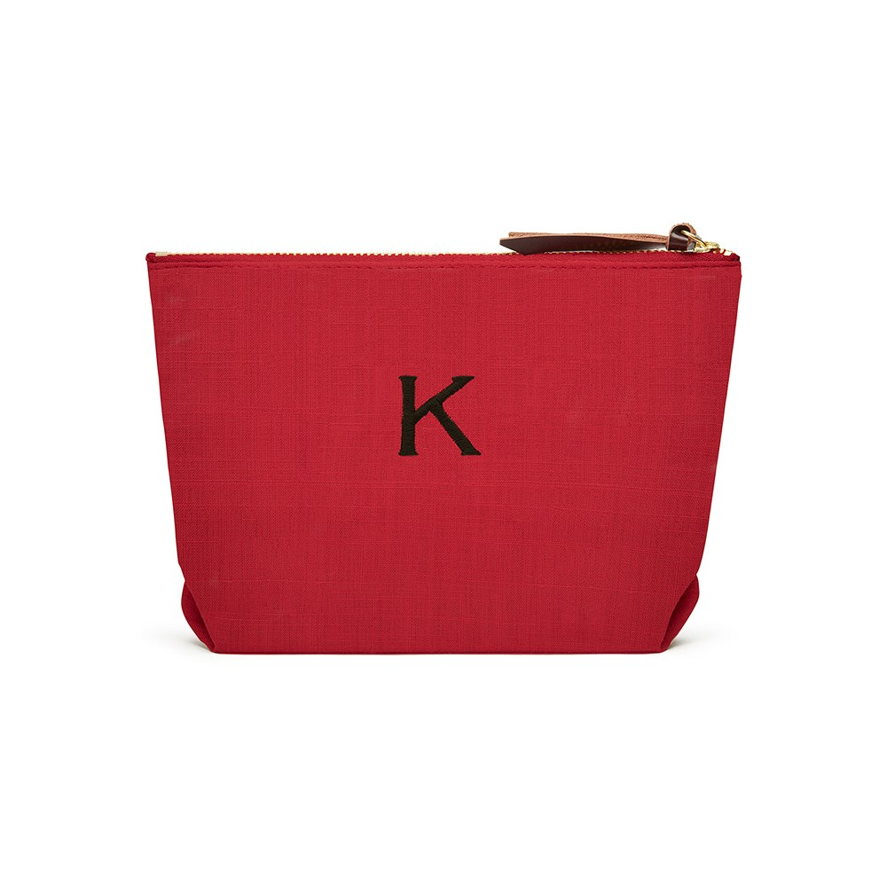 Napa Linen Cosmetic Bag Red