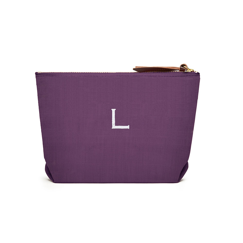 Napa Linen Cosmetic Bag Plum