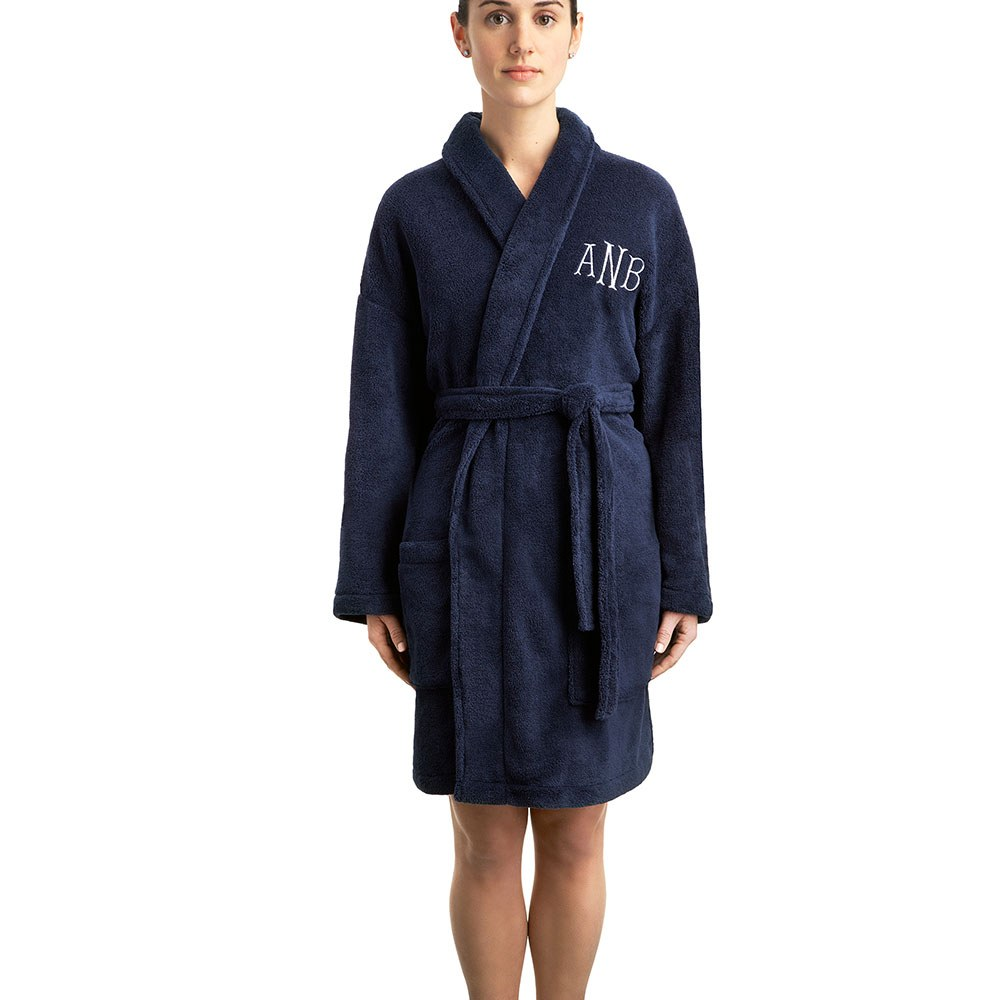 Cozy Fleece Robe Navy
