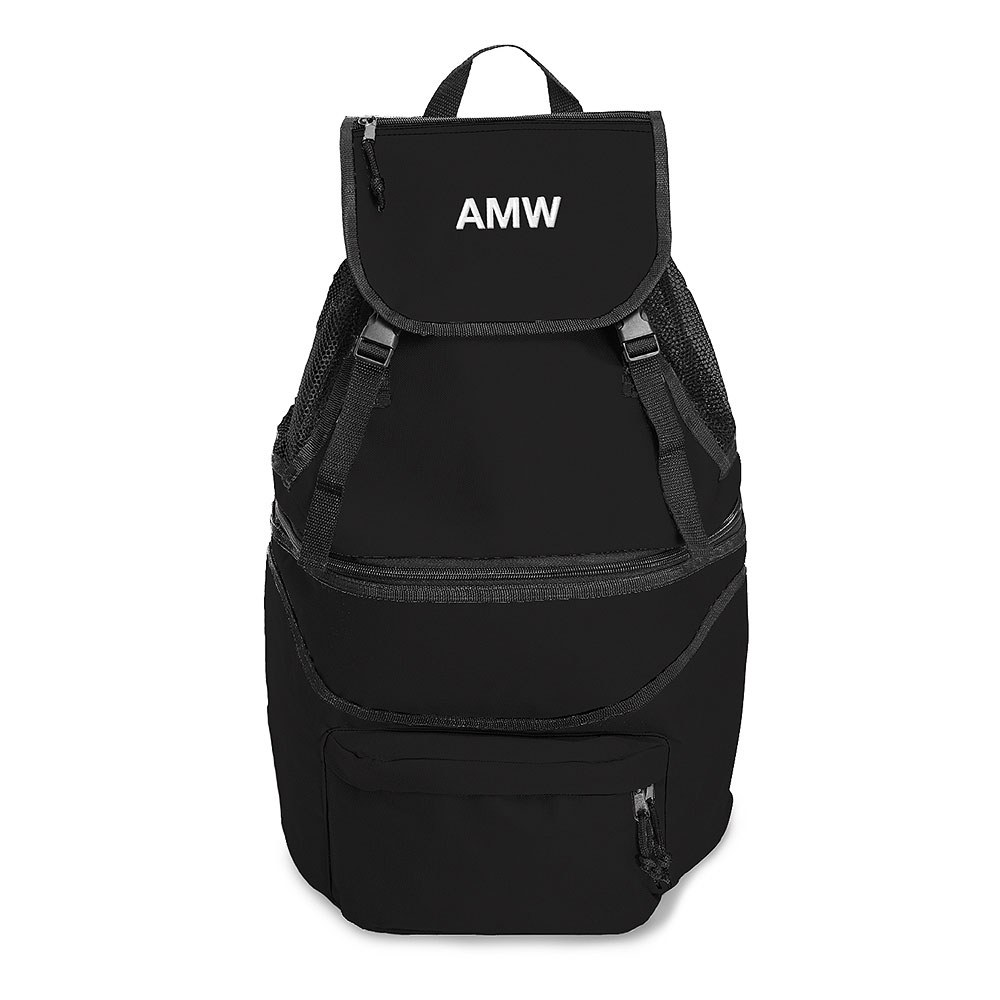 Expandable Cooler Backpack Black