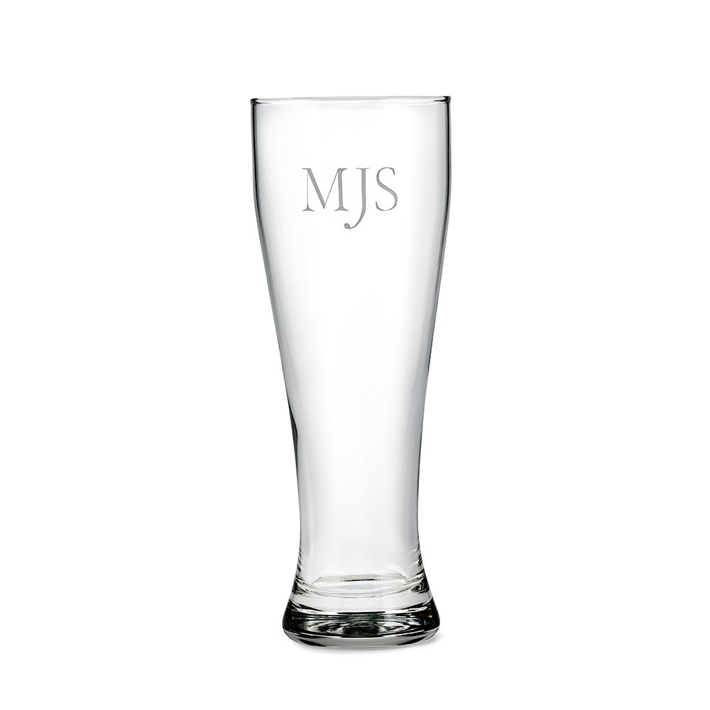 Personalized Large Pilsner Glass – Monogram Engraving