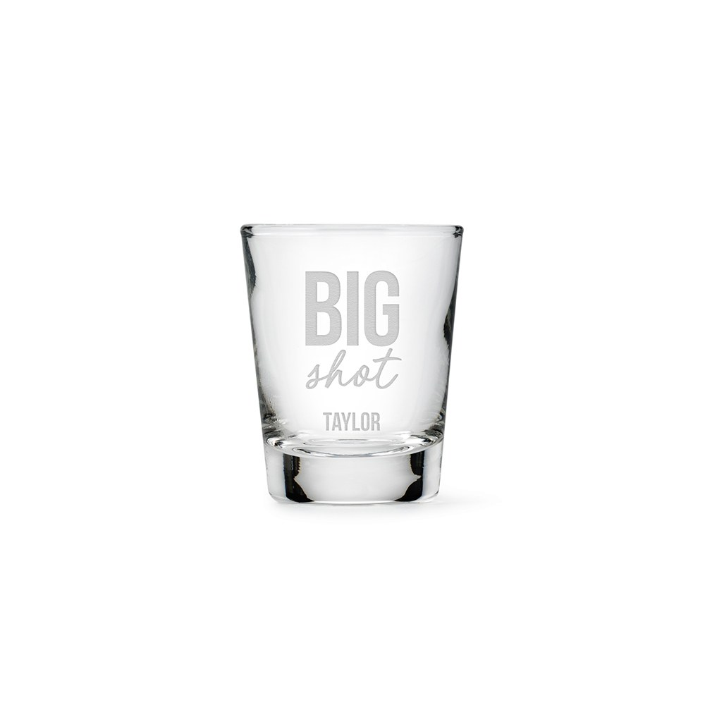 Personalized Clear 1 oz. Shot Glass - Big Shot