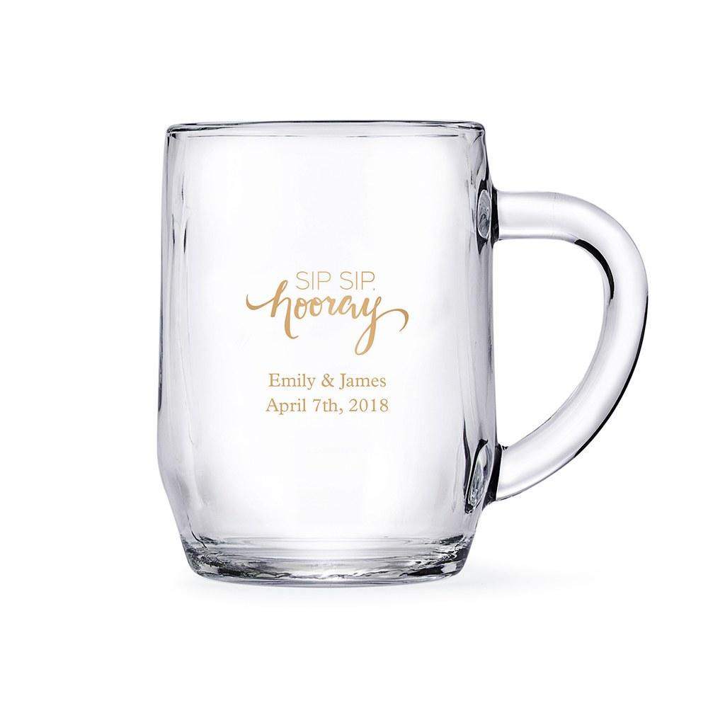 Clear Glass Coffee Mugs - Personalized