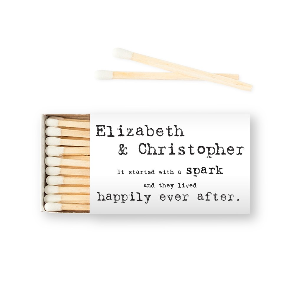 Custom Matchbox Wedding Favor - Bistro Bliss