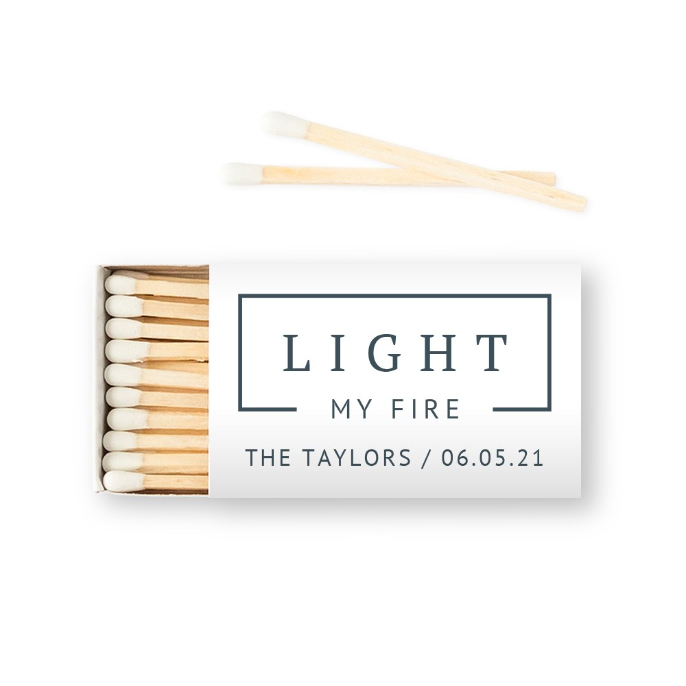 Custom Matchbox Wedding Favor - Rustic Love