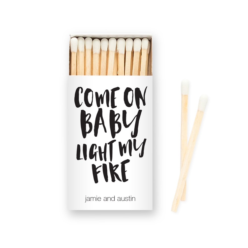 Custom Matchbox Wedding Favor - Light My Fire
