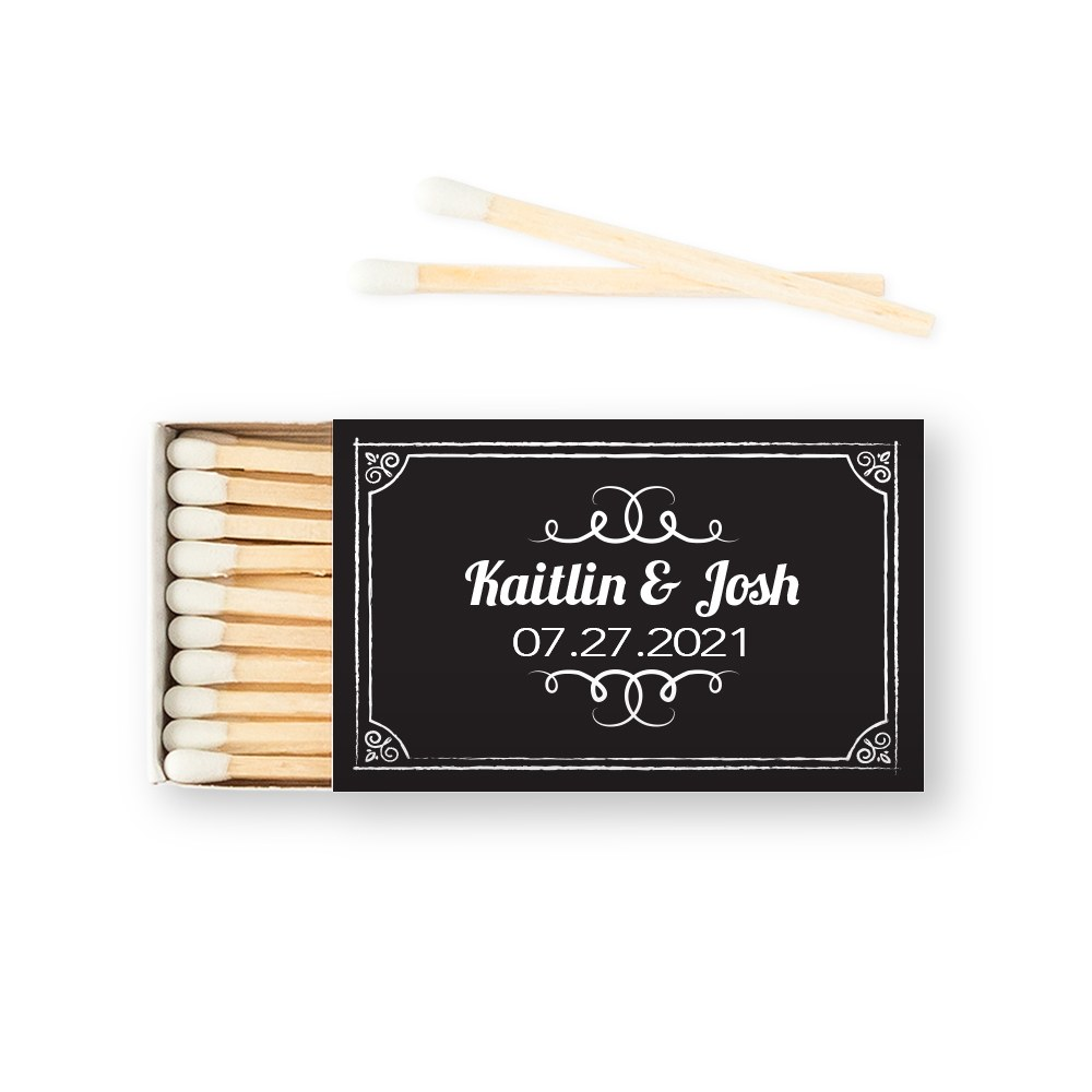 Custom Matchbox Wedding Favor - Chalkboard