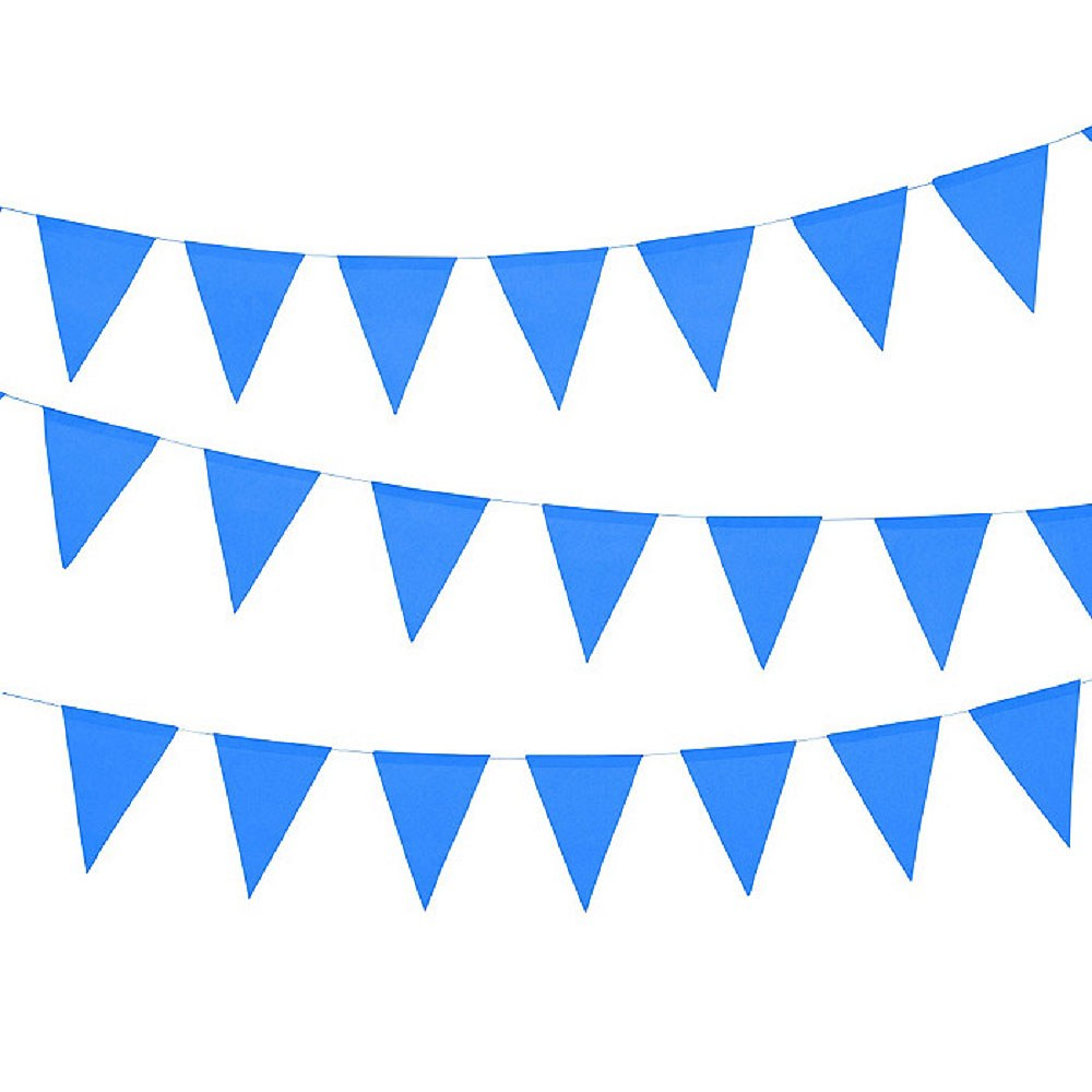 Paper Pennant Banner Royal Blue