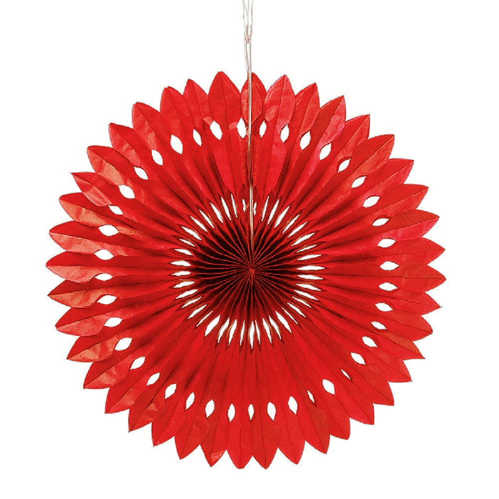 Paper Pinwheel Decor Red