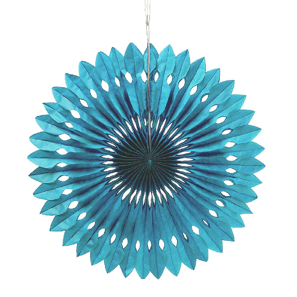 Paper Pinwheel Decor Peacock Blue