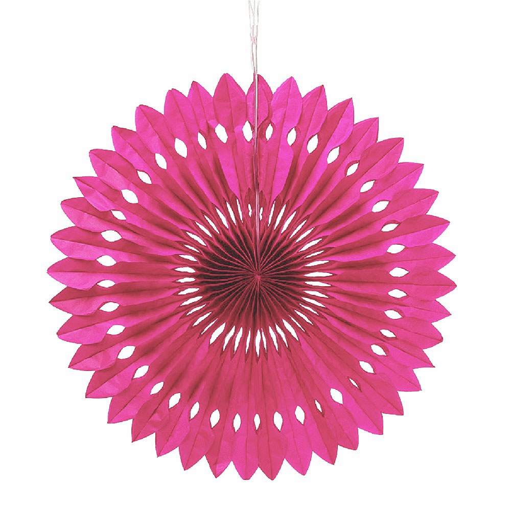 Paper Pinwheel Decor Hot Pink