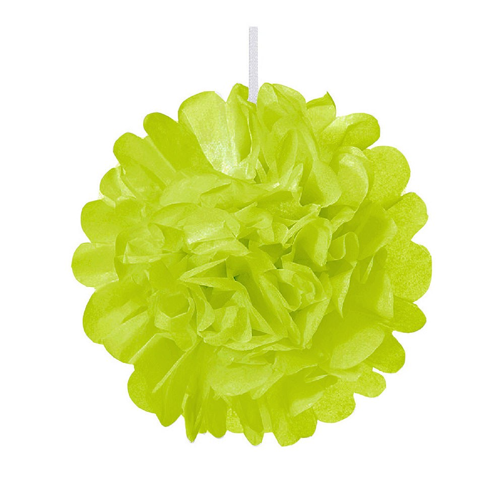 Mini Paper Pom Pom Grass Green