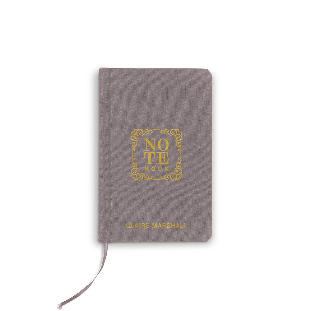 Personalized Charcoal Gray Vow Pocket Notebook – Note Book