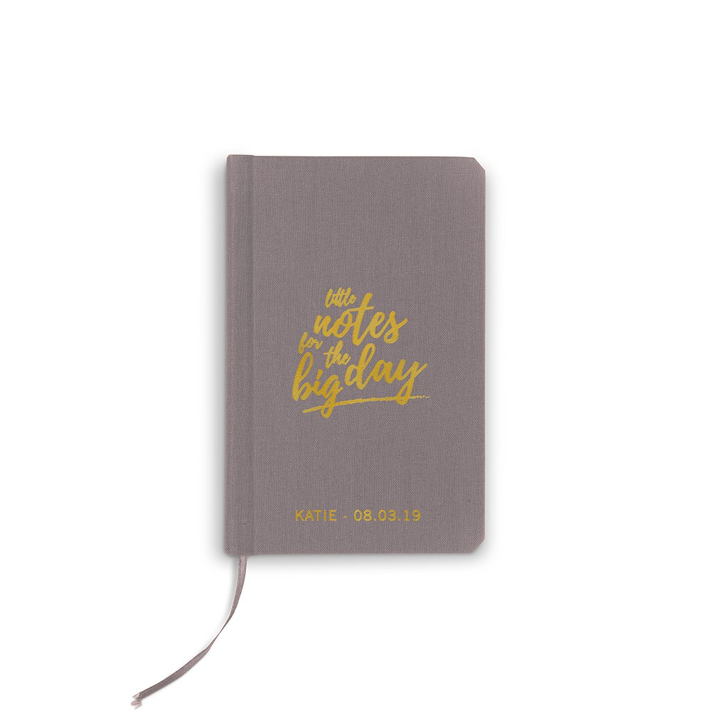 Personalized Charcoal Gray Vow Pocket Notebook – Little Notes