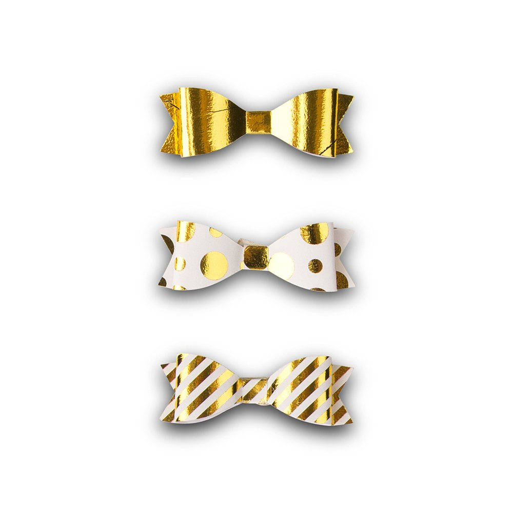 Miniature Assorted Metallic Gold Paper Bows