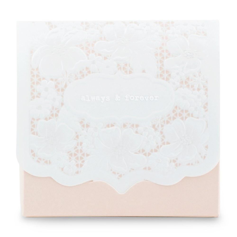Pretty Lace Favor Box   Blush