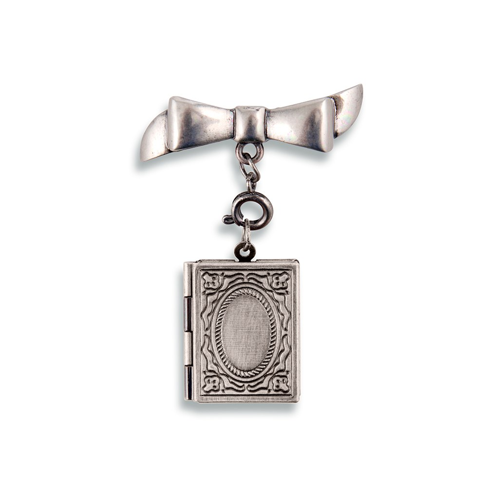 Vintage Silver Locket Necklace – Book
