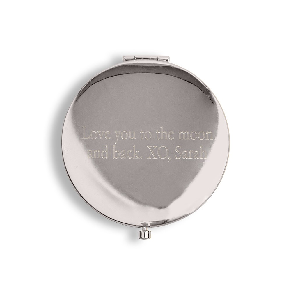 Faux Leather Compact Mirror #Flawless Emboss