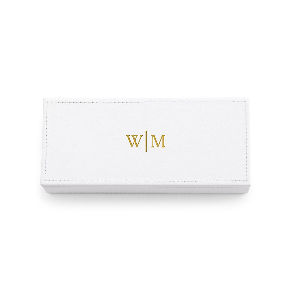 Personalized Faux Leather Jewelry Box- Monogram Emboss