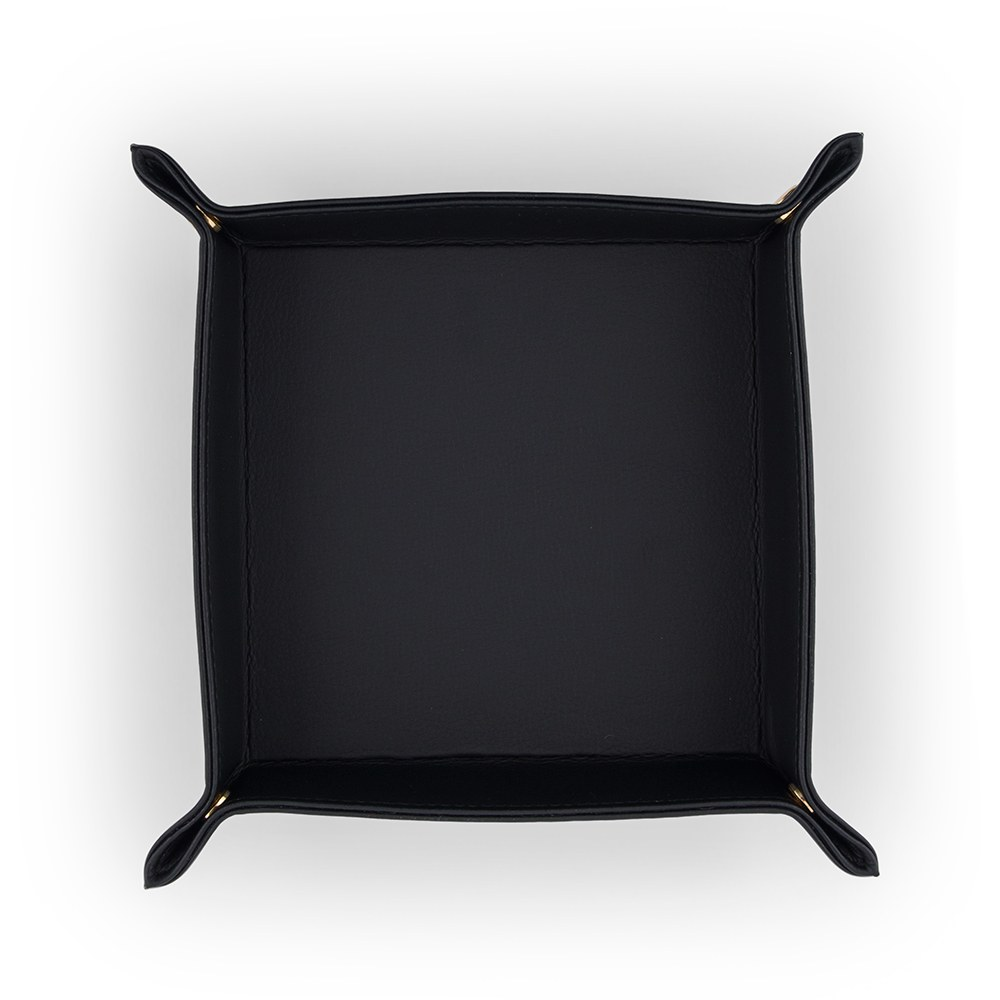 Vegan Leather Jewelry Tray– Medium Solid Black