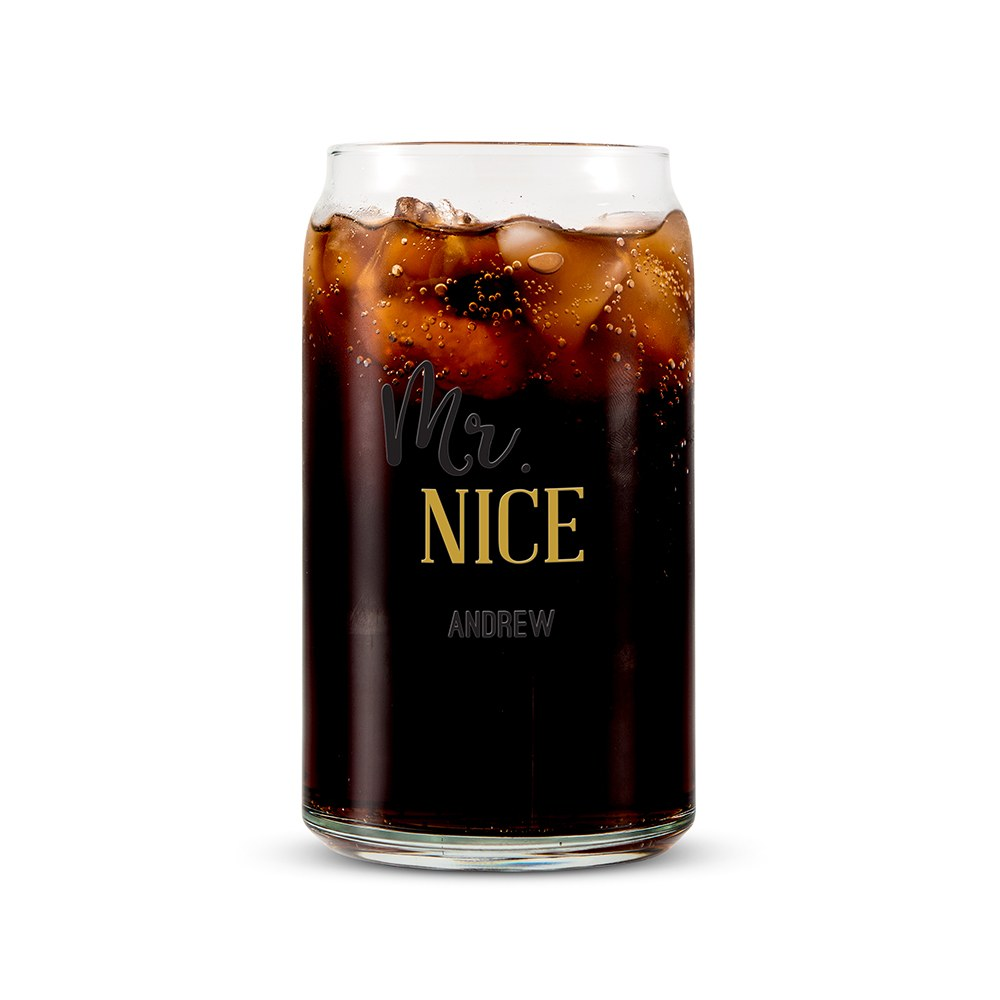 Personalized Can Shaped Drinking Glass – Mr. Nice Print
