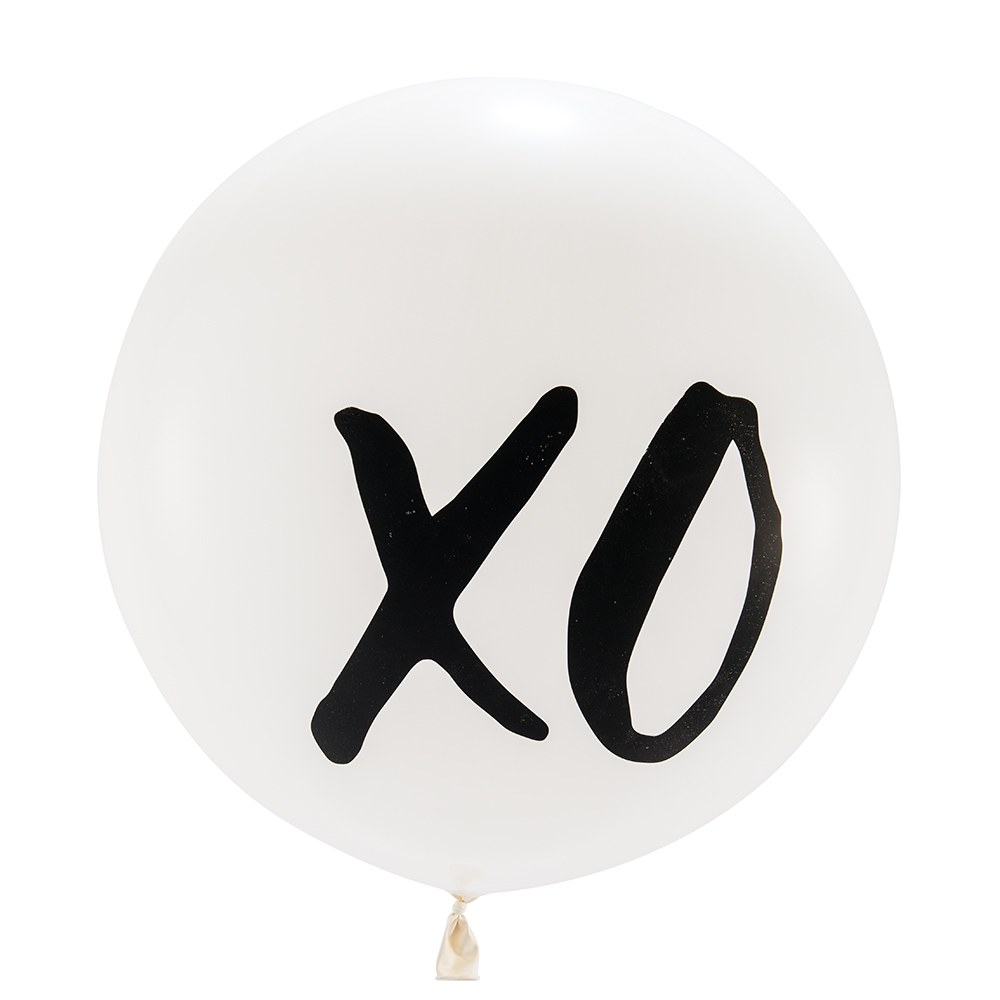 Jumbo White Round Wedding Balloon Decorations - XO