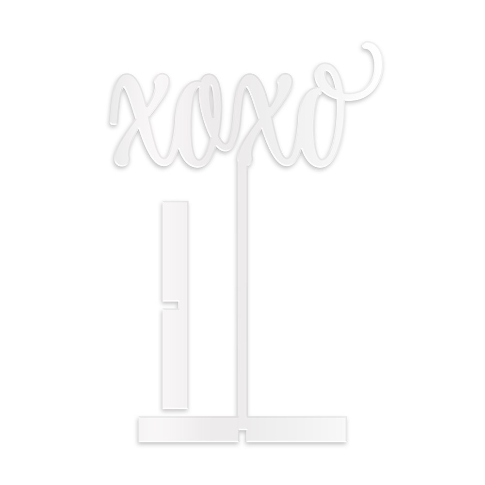 Script XOXO Acrylic Sign - White