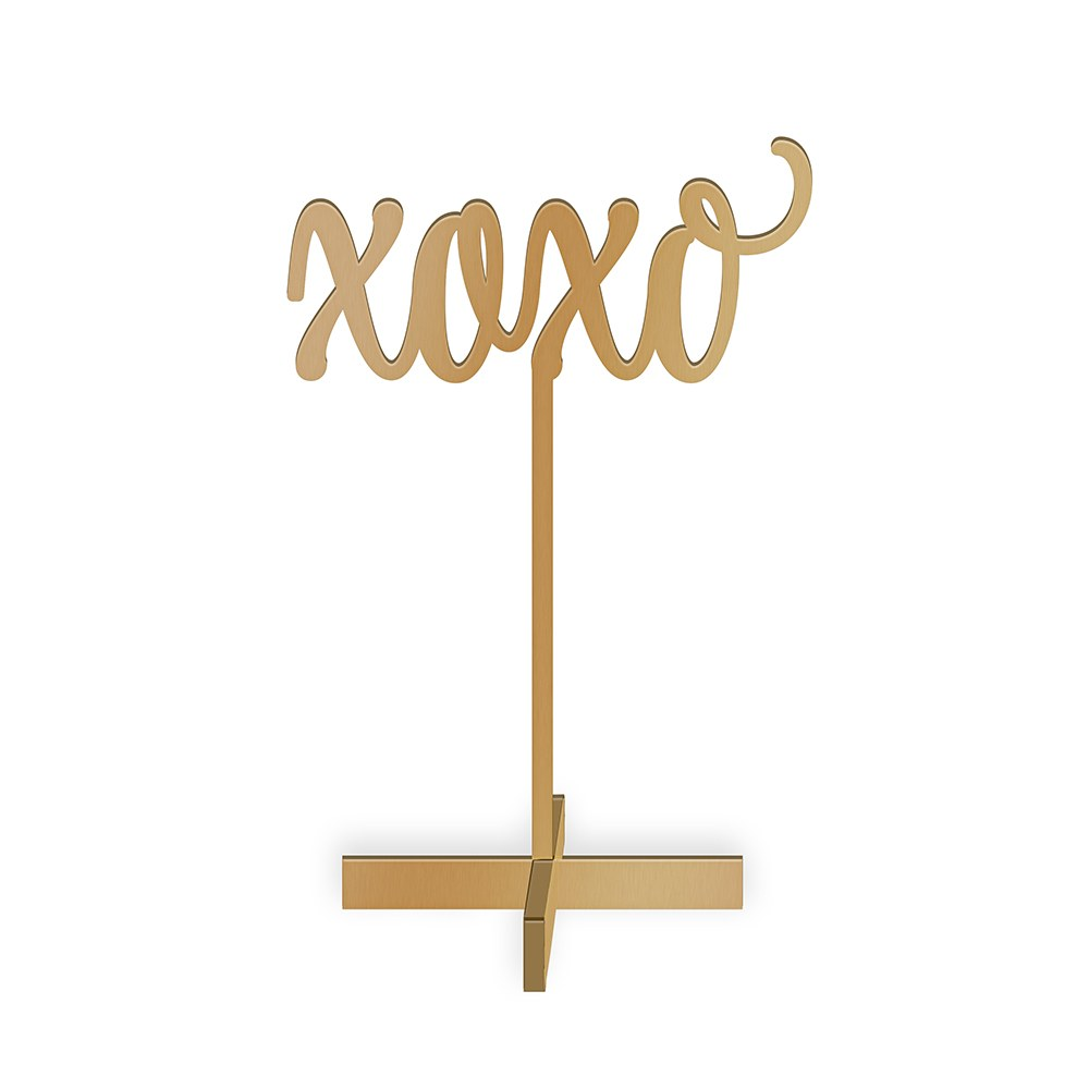 Script XOXO Acrylic Sign - Metallic Gold