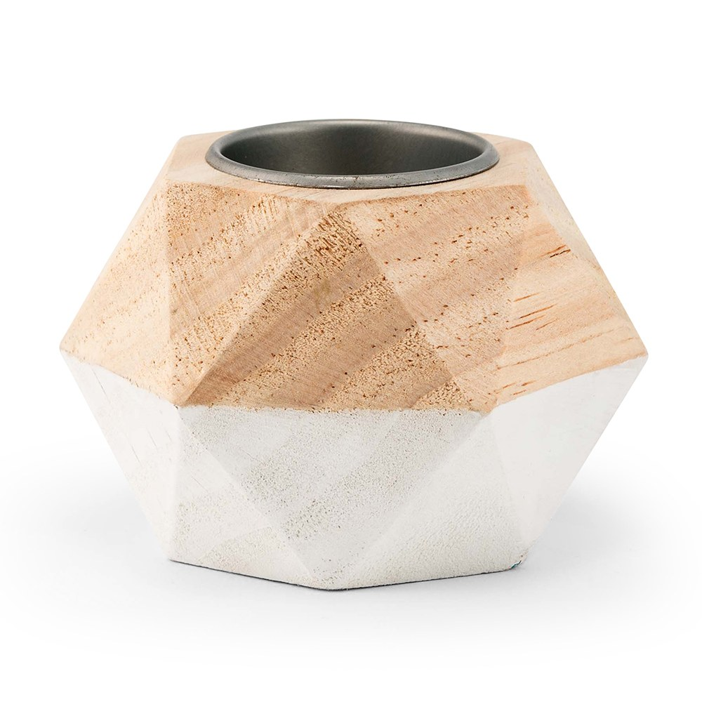 Geometric Wooden Tealight Holder