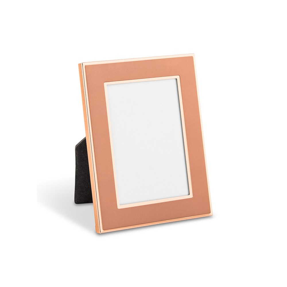 Small Easel Back Photo Frame - Rose Gold