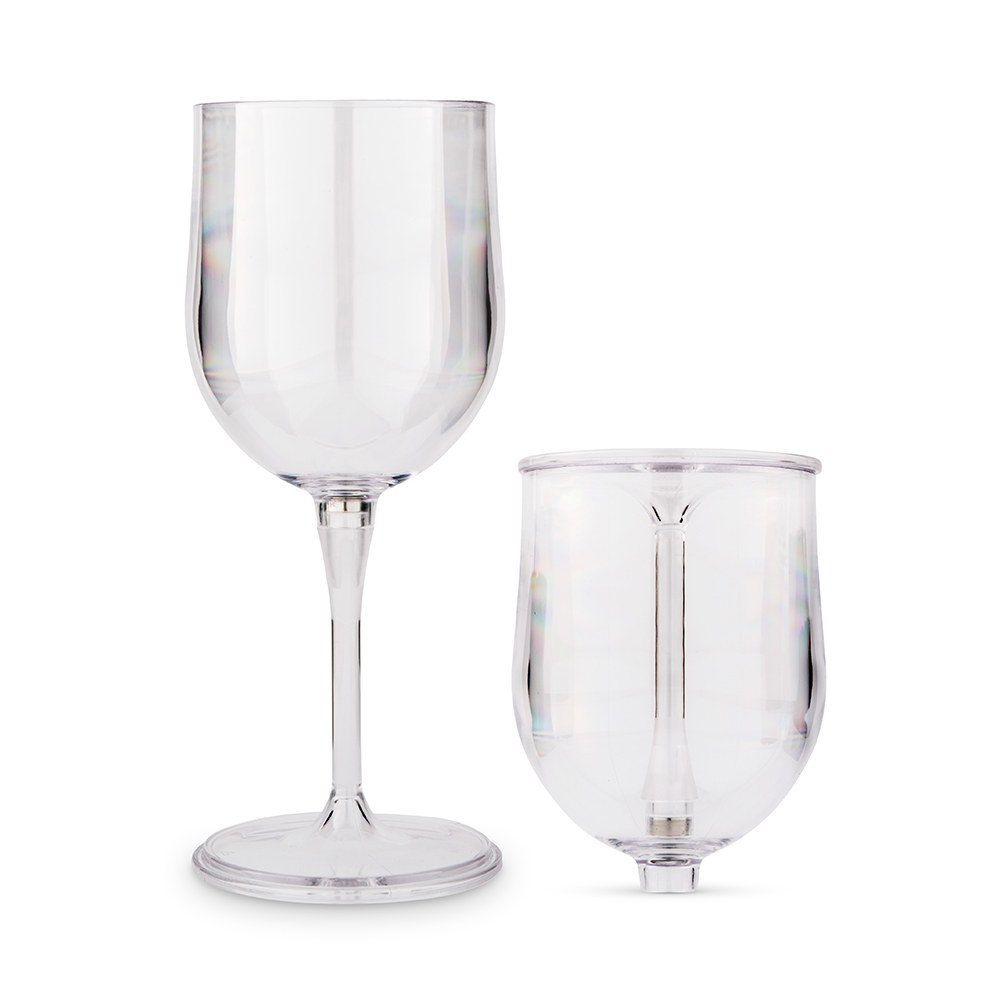 Portable Plastic Nesting Wine Glass – Clear
