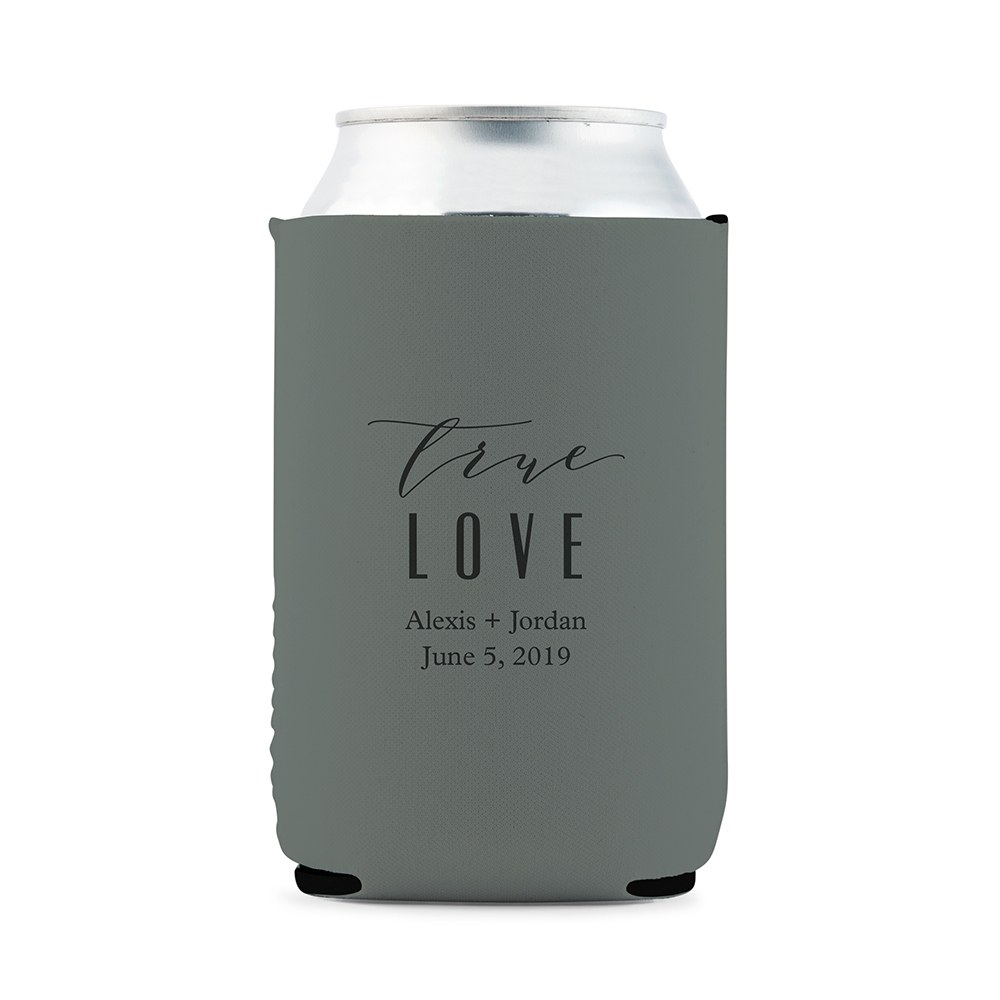 Custom Neoprene Foam Beer Can Party Koozie - Grey