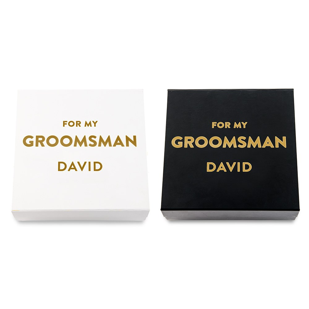 Premium Gift Box - Groomsman in Metallic Gold