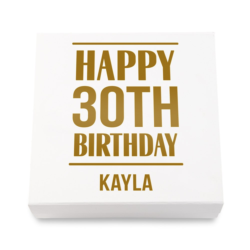 Premium Gift Box - Birthday Years in Metallic Gold