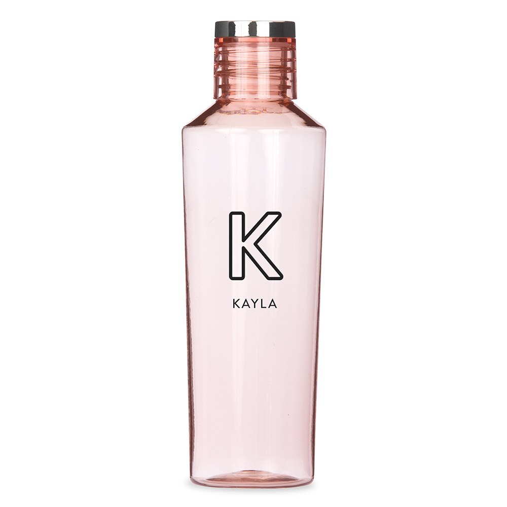 Personalized Plastic Water Bottle - Summer Vibes Monogram