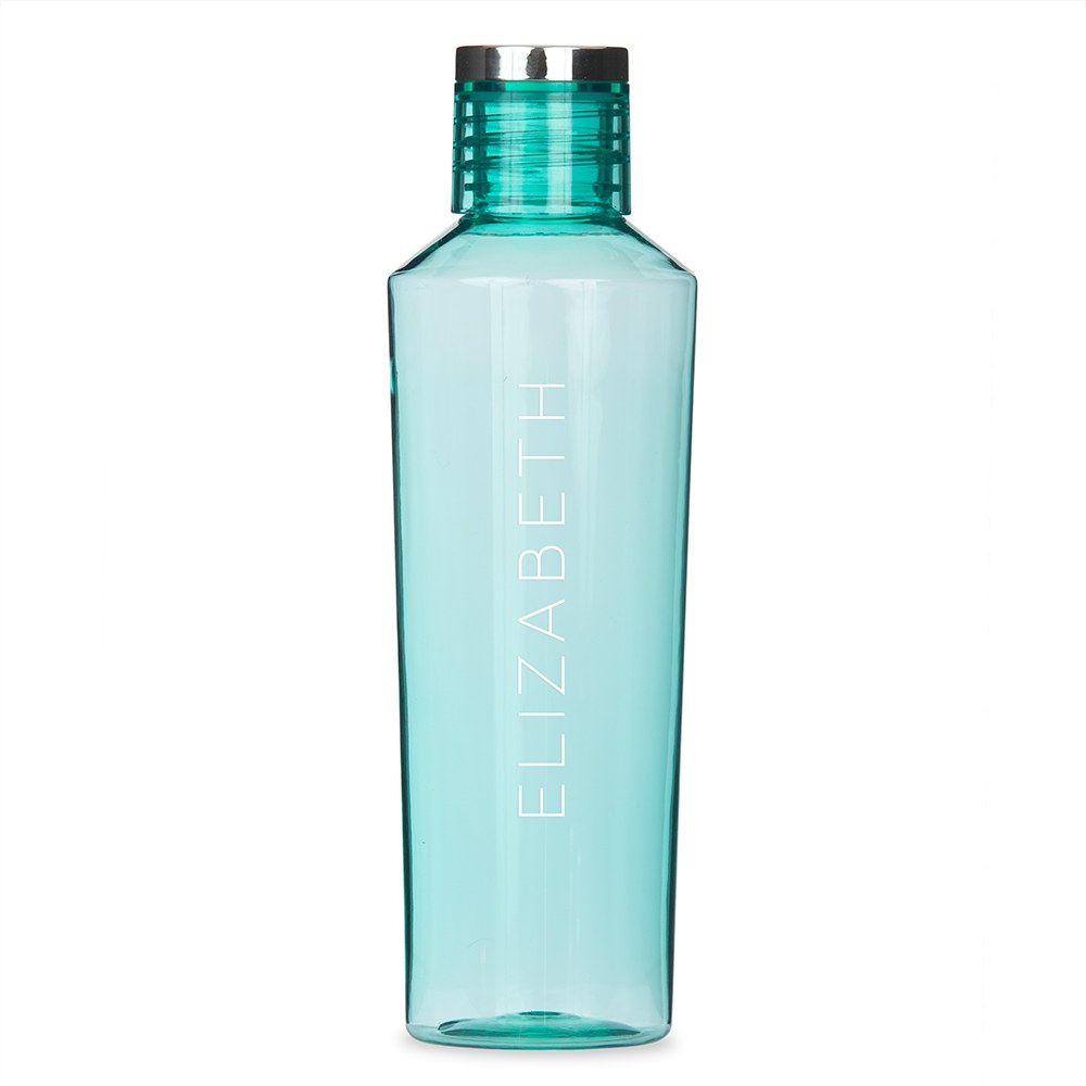 Personalized Plastic Water Bottle - Contemporary Vertical Line
