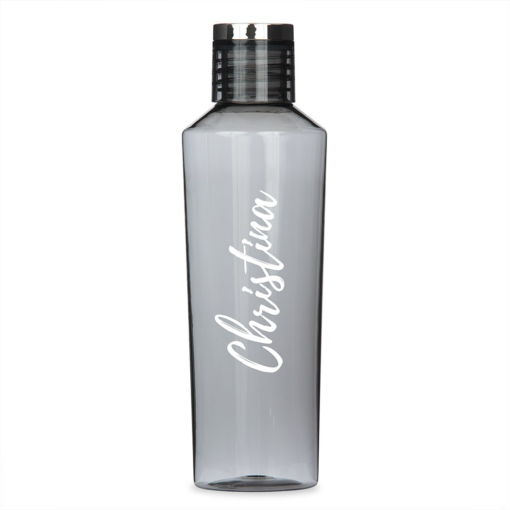 Personalized Plastic Water Bottle - Calligraphy Print