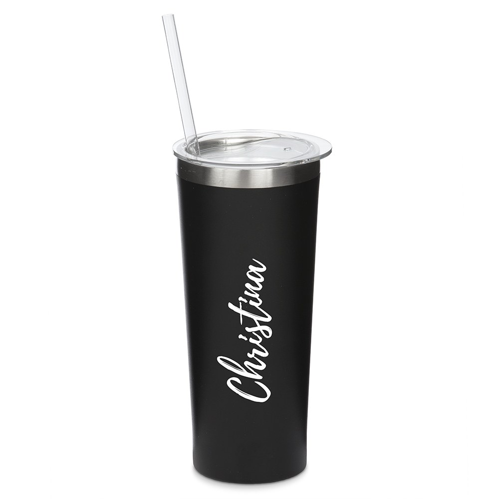Stainless Steel Tumbler - Calligraphy Print