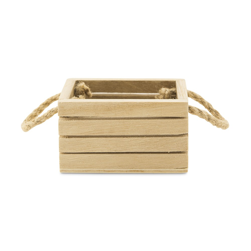 Mini Wooden Crate with Jute Handles