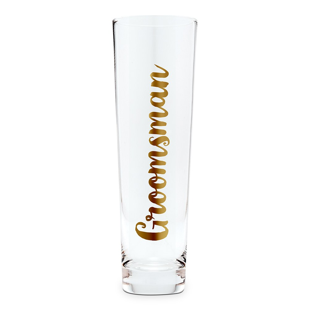 Stemless Toasting Champagne Flute Gift for Wedding Party - Groomsman
