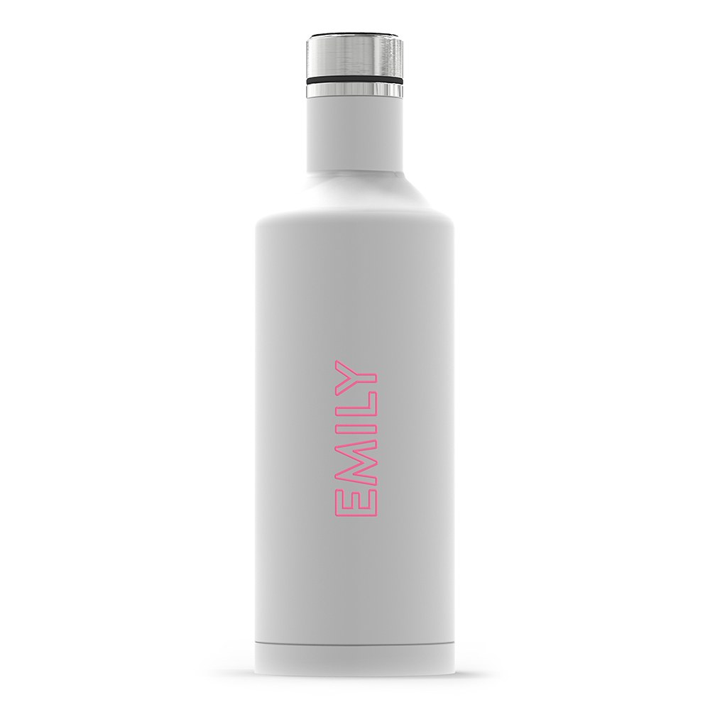 Insulated Water Bottle - Sleek White - Summer Vibes Vertical Printing