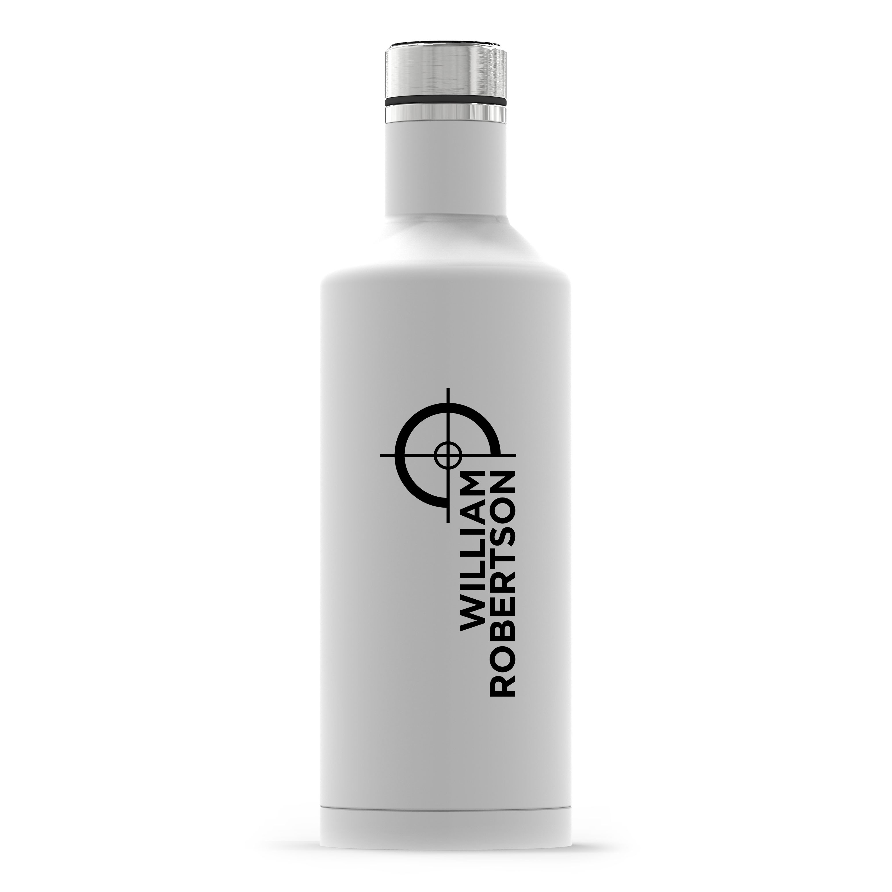 Personalized White Stainless Steel Insulated Water Bottle – Hunting/Gaming Print