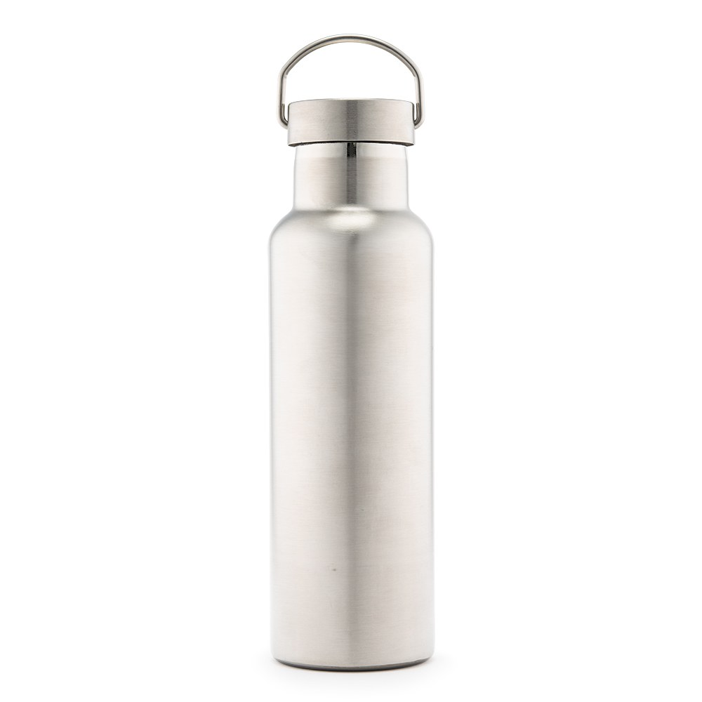 Chrome Stainless Steel Reusable Water Bottle – Plain Silver