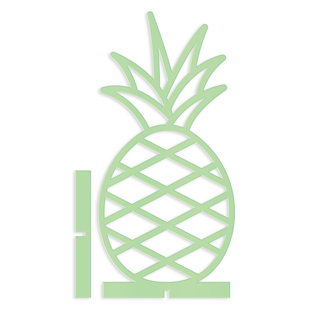 Acrylic Pineapple - Tabletop Decoration In Daiquiri Green