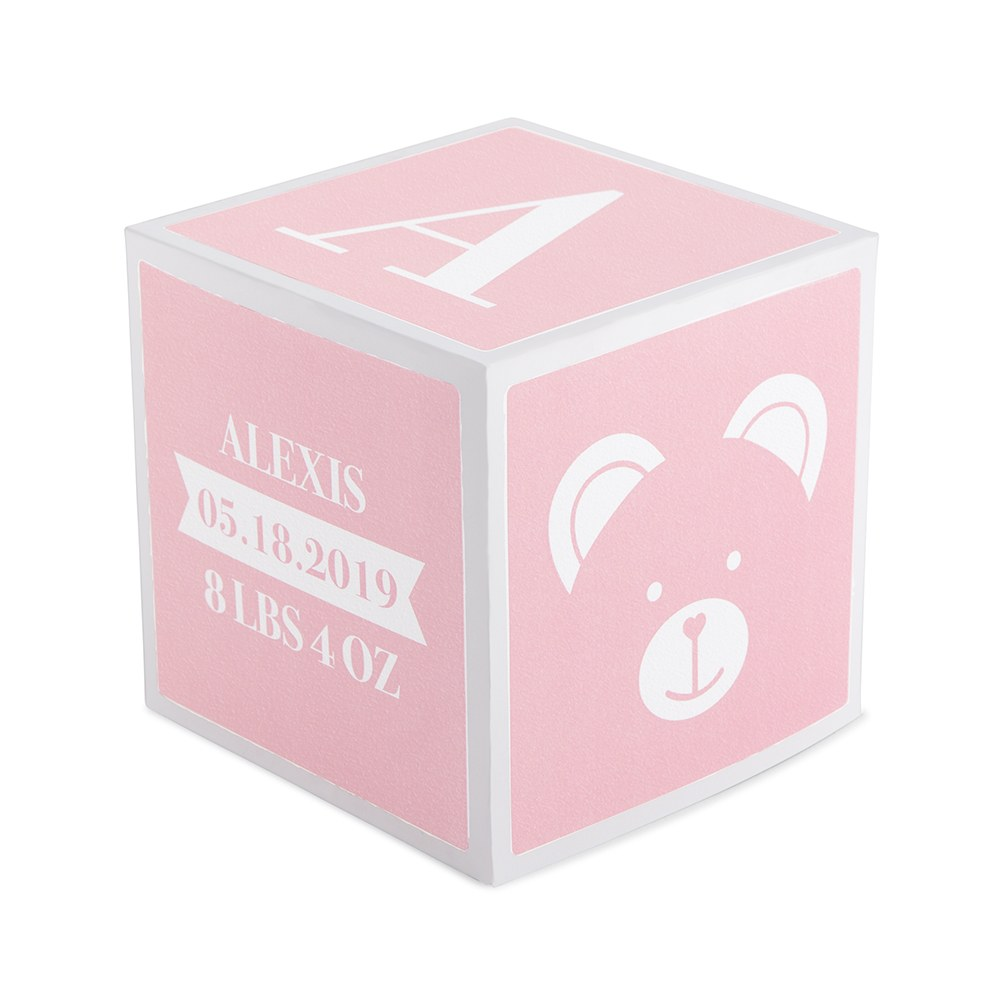 Keepsake Baby Block - Light Pink