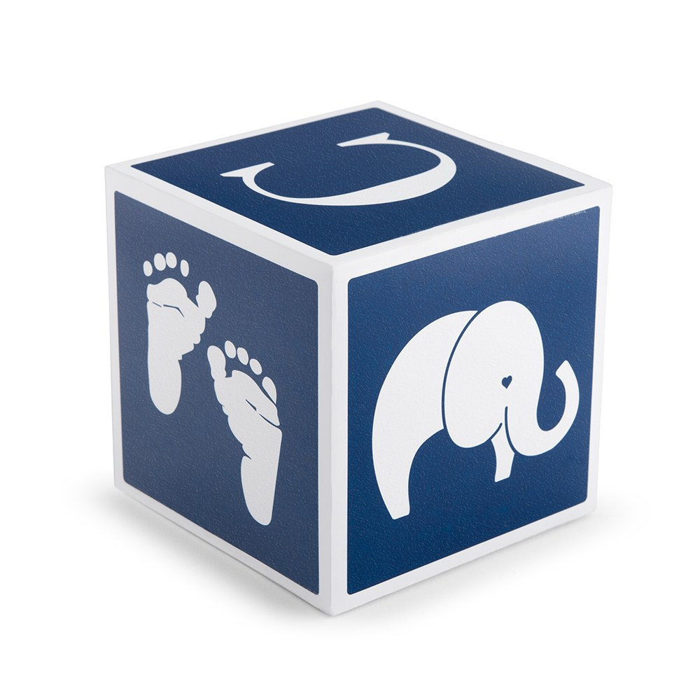 Keepsake Baby Block - Navy Blue