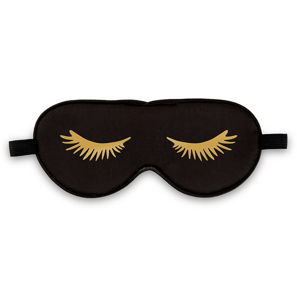 Satin Eyelashes Eye Mask - Black
