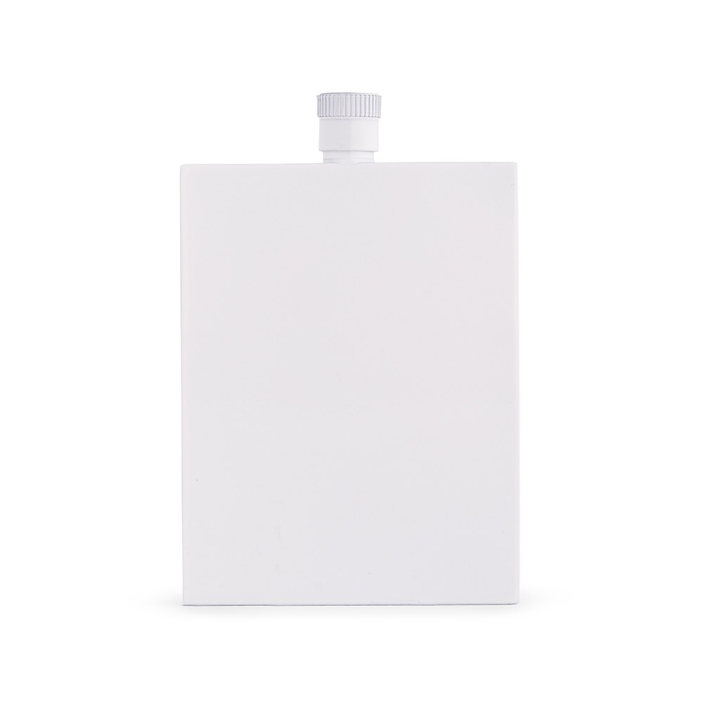 White Stainless Steel Hip Flask